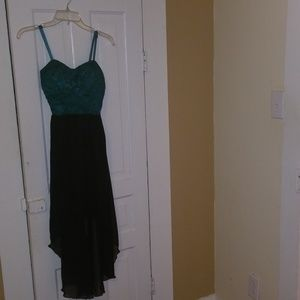 Green/Black dress